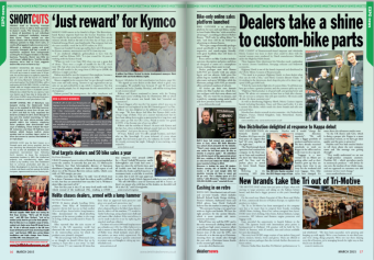 Bike Catcher featured in British Dealer News March Edition