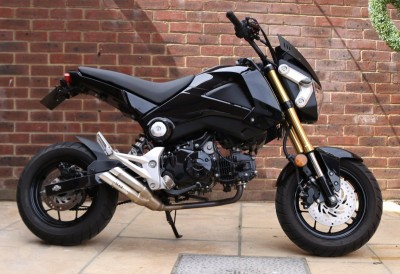Image of 2013 (63) Honda MSX 125 D (Grom) Black Clean Low Mileage MOT Lots of Extras Full IXIL System