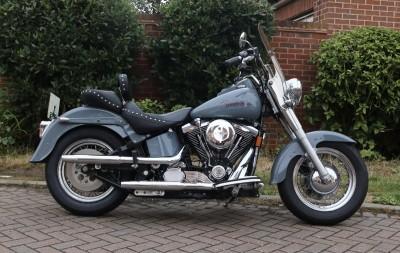 Image of Rare 98 Harley Davidson Evo Softail FLSTF Fatboy Very Clean MOT Lots of Extras Stunning