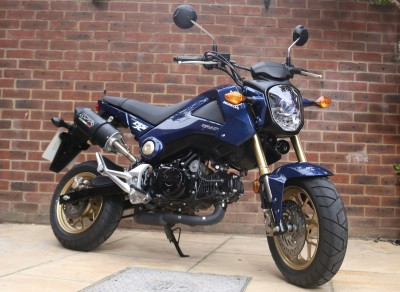 Image of 2015 (15) Honda MSX125 Grom Learner Legal 125cc Blue MOT Extras